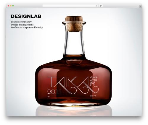 Black Label WordPress template - designlab.fi