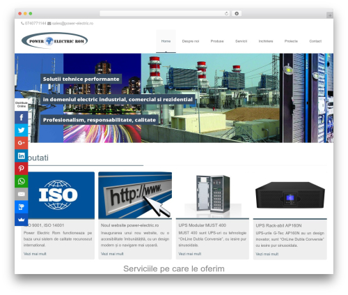 Ivena WordPress page template - power-electric.ro