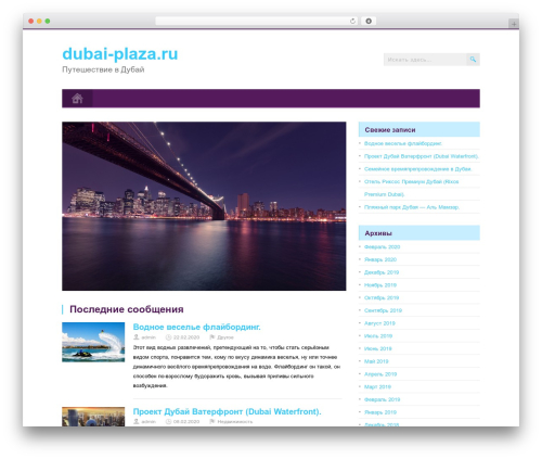 MidnightCity WordPress page template - dubai-plaza.ru
