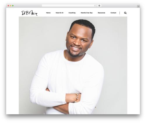Pitch WordPress theme design - drbmanning.com