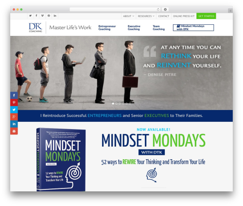 Salient premium WordPress theme - dtkcoaching.com