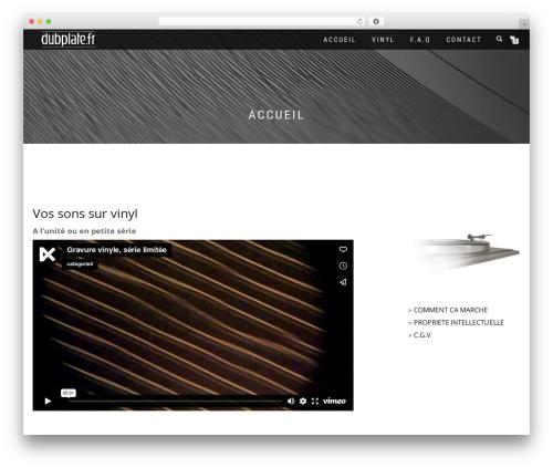 ShopIsle PRO best WordPress theme - dubplate.fr