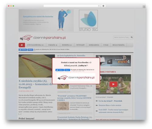 Tribune Theme WordPress website template - dziennikparafialny.pl
