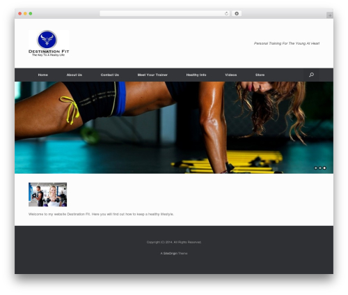 Vantage best free WordPress theme - destinationfit.net