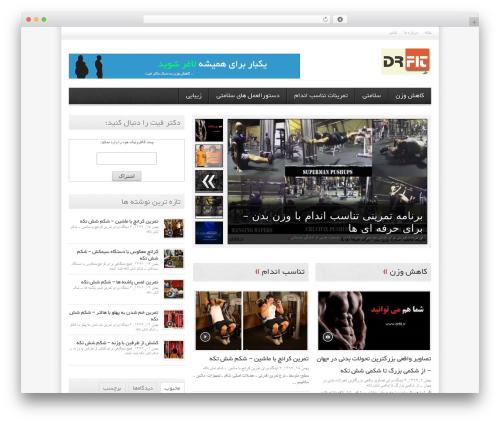 Avenue best free WordPress theme - drfit.ir