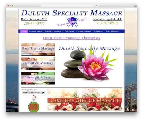 Church Child Theme massage WordPress theme - duluthspecialtymassage.com