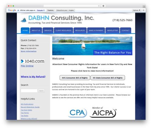 Customized business WordPress theme - dabhnconsulting.com