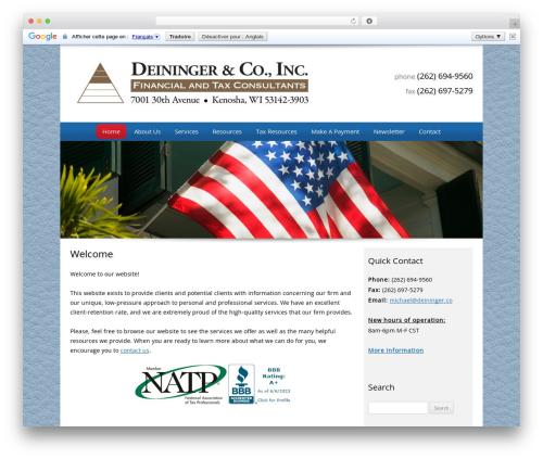 Customized WordPress template for business - deininger.co