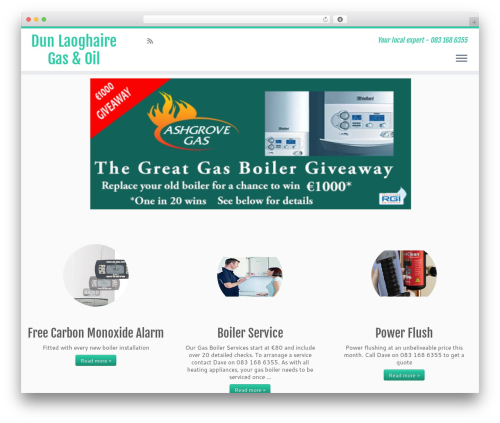 Customizr premium WordPress theme - dunlaoghairegas.ie
