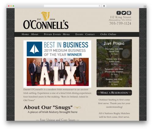 Icy best restaurant WordPress theme - danieloconnells.com