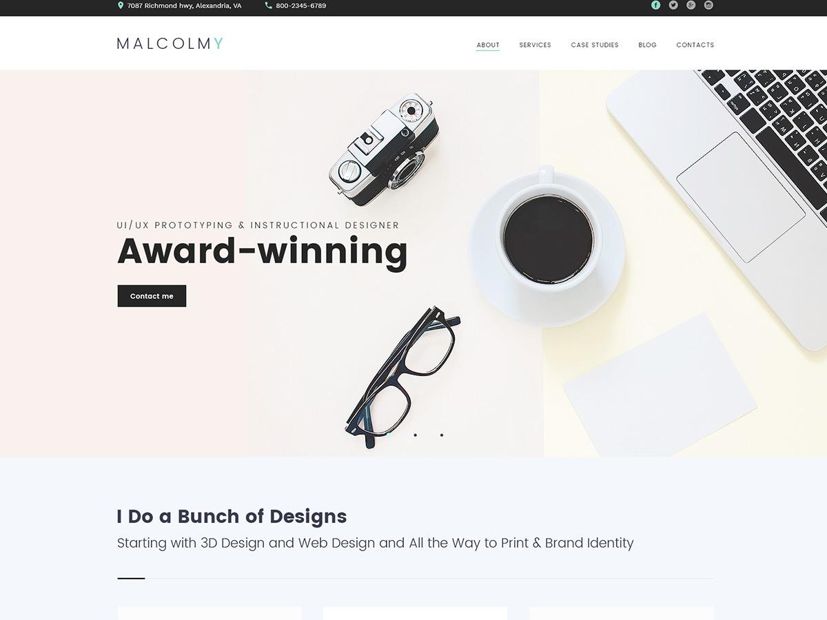 Malcolmy template WordPress