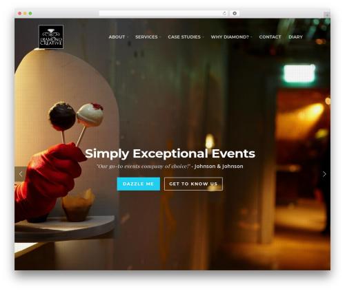Salient WordPress website template - diamond-creative.com