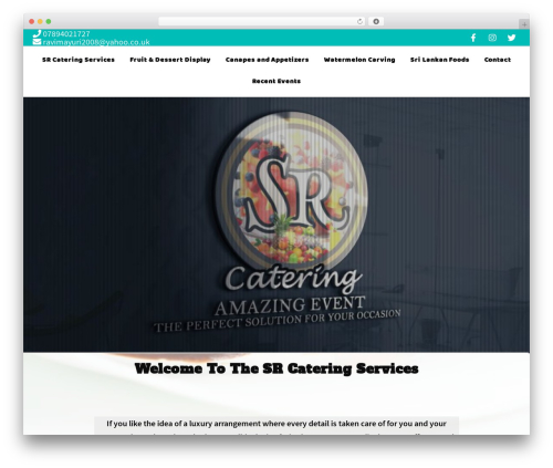 Sydney template WordPress free - srcateringservices.com