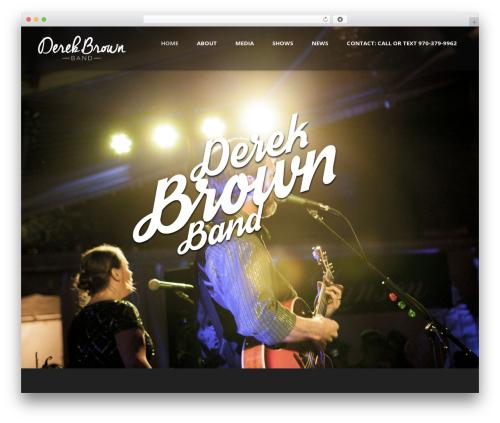Theme WordPress Music Club - derekbrownband.com