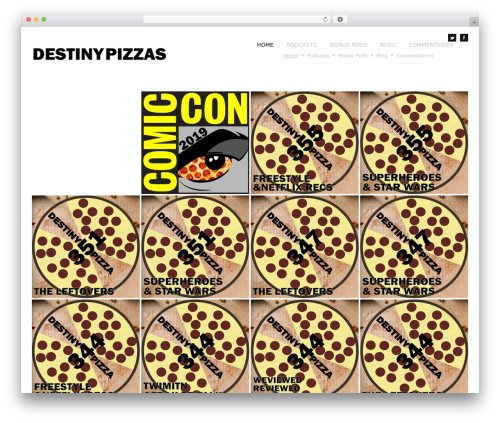 Theme WordPress Square Box Responsive Theme - destinypizzas.pizzacasts.com