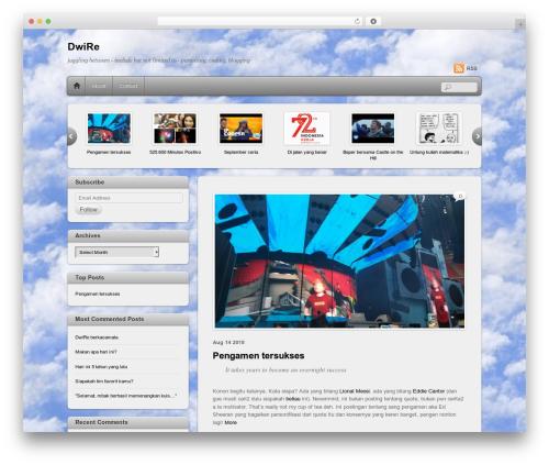 Themify iTheme2 WordPress blog theme - dwigross.name