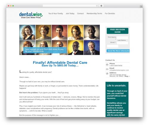 Whitelight WordPress theme - dentalwiseplan.com