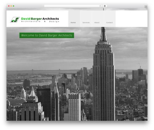 Best WordPress theme Arch - davidbargerarchitects.com
