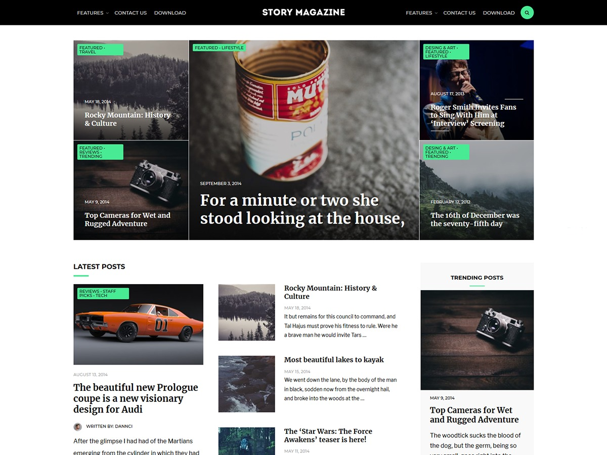 Story Magazine best WordPress magazine theme