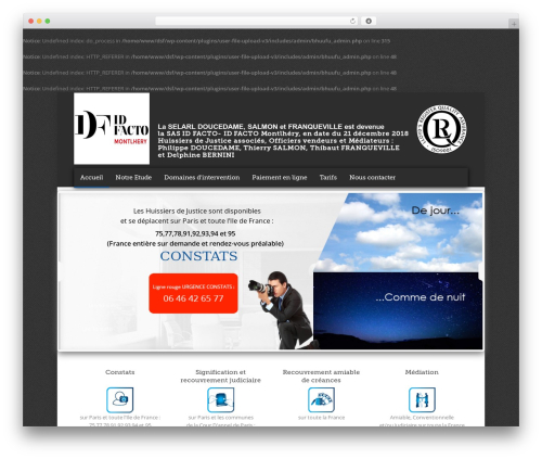 Theme WordPress Quare - dsf-huissiers.fr