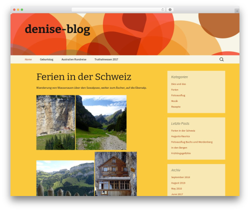 Twenty Thirteen WordPress theme free download - denise-blog.ch
