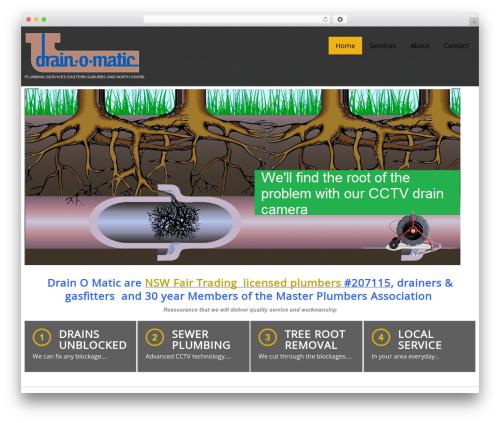 WordPress theme cherry - drainomatic.com.au
