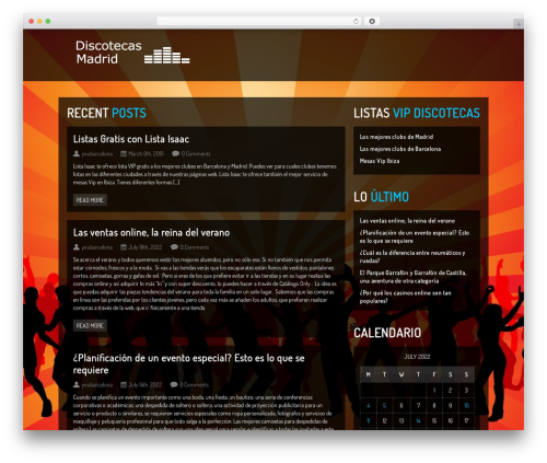 WP template Clubber (shared on themelock.com) - discotecasmadrid.org