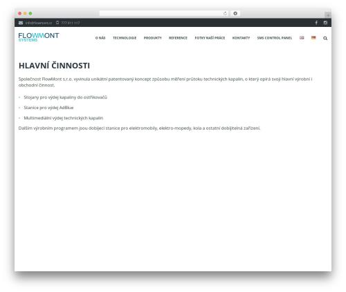 Ascendio theme WordPress - flowmont.cz