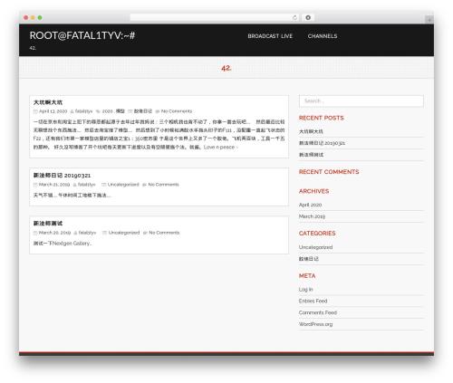 Avocation WordPress template free download - fatal1tyv.com