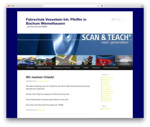 Best WordPress template Twenty Eleven - fahrschule-vossebein.de
