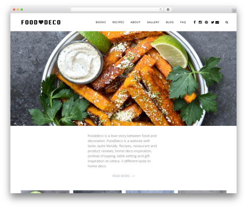 Bridge food WordPress theme - fooddeco.nl