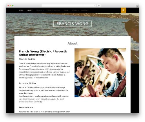 Bulan free WordPress theme - franciswongrock.com