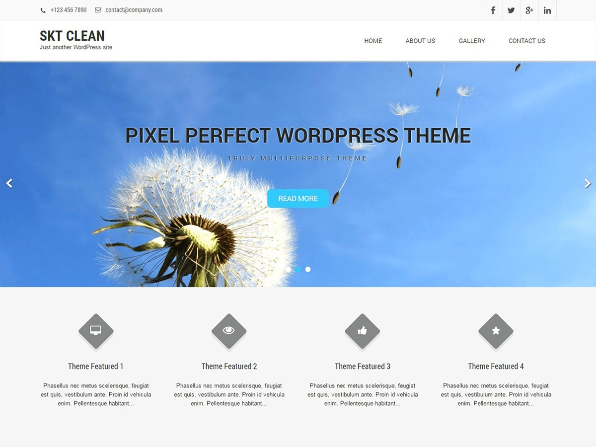 Clean Lite WordPress theme download