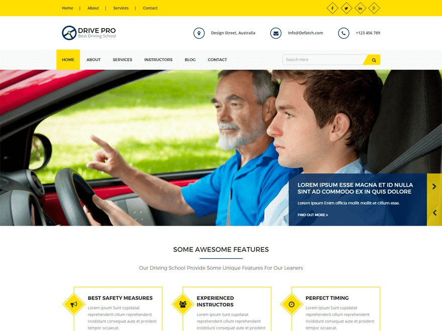 Drivepro WP theme