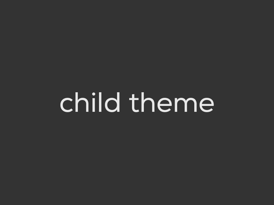 Exodus Child theme WordPress
