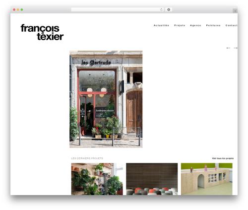 Hati WordPress theme - francoistexier.fr