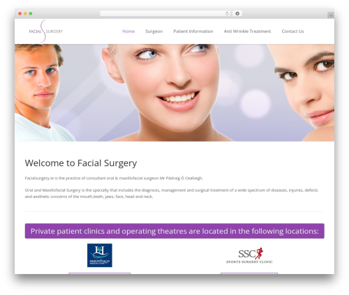 Impreza WordPress theme - facialsurgery.ie