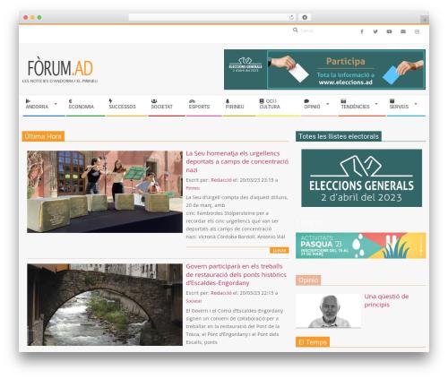 Magazine Hoot Premium WordPress magazine theme - forum.ad