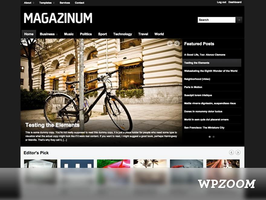 Magazinum WordPress website template