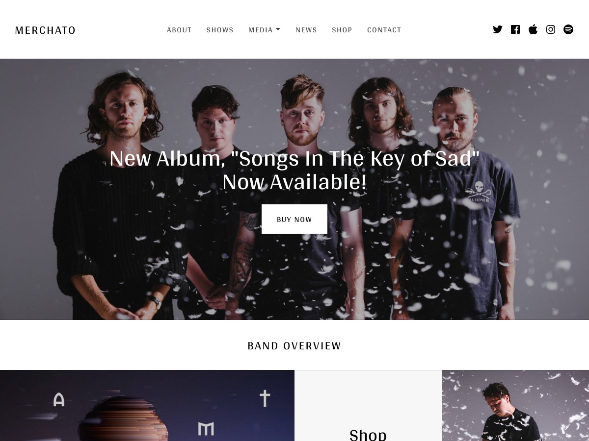 Merchato WordPress shop theme