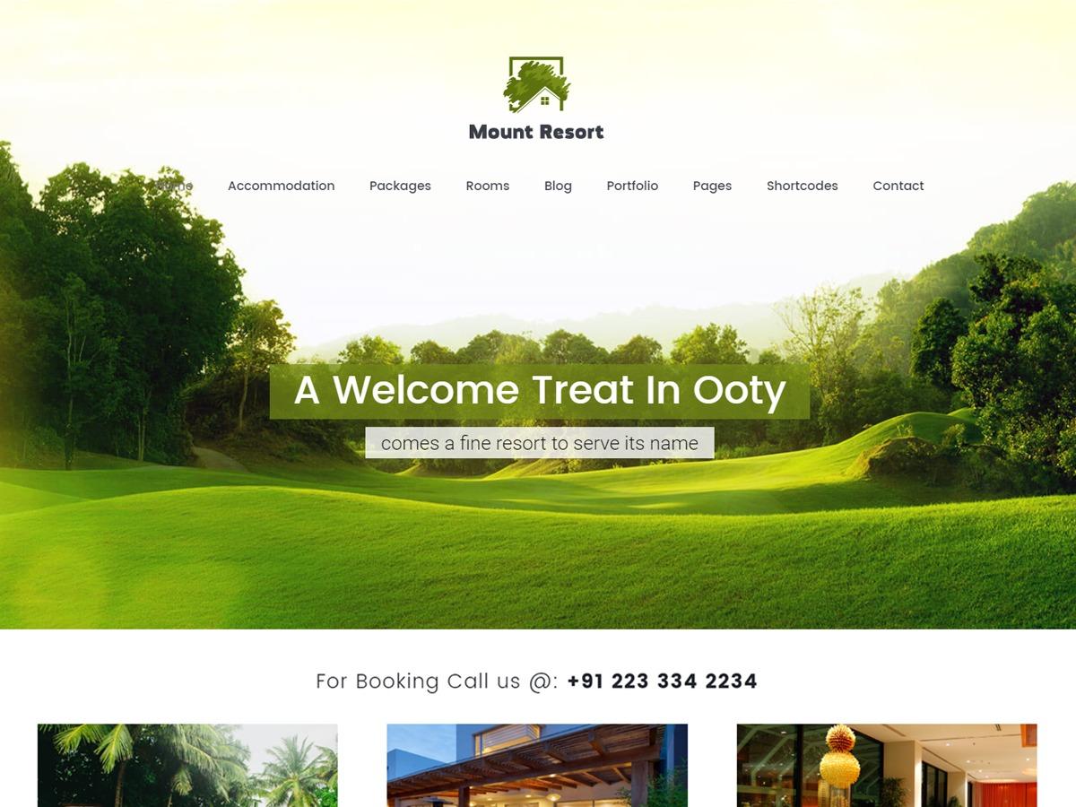 MountResort WordPress theme design