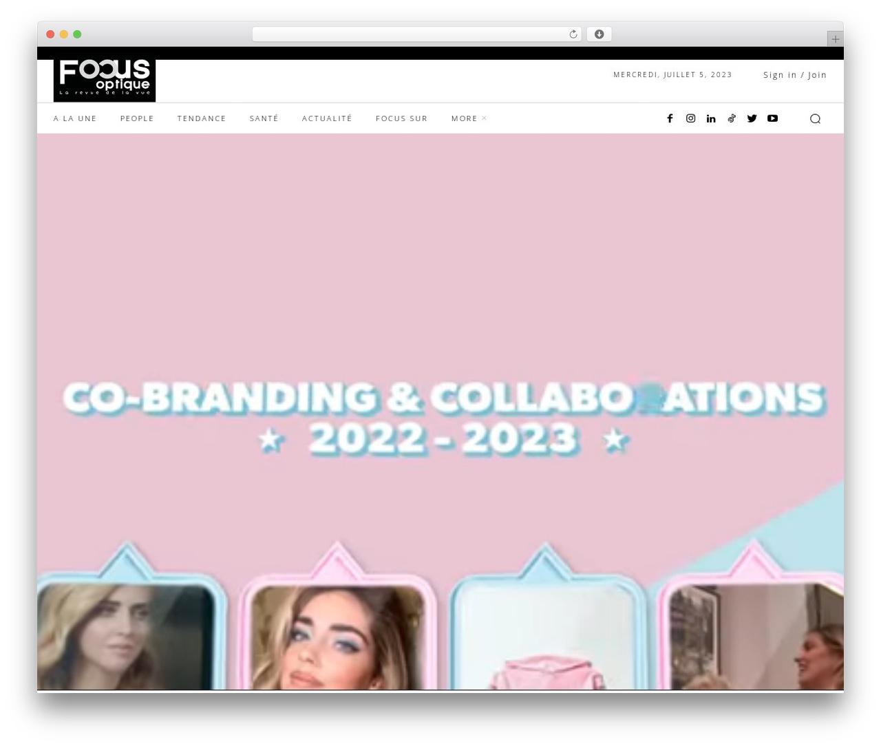 Newspaper WordPress news theme - focusoptique.tn
