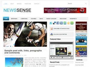 NewsSense newspaper WordPress theme