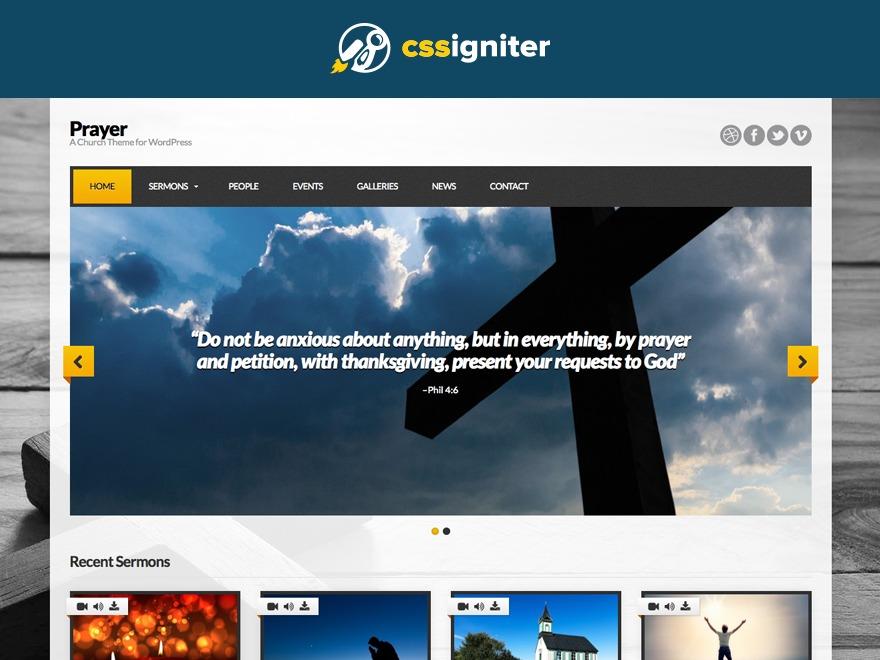 Prayer best WordPress template