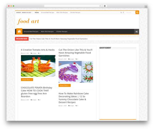 Sahifa best WordPress magazine theme - food-art.co