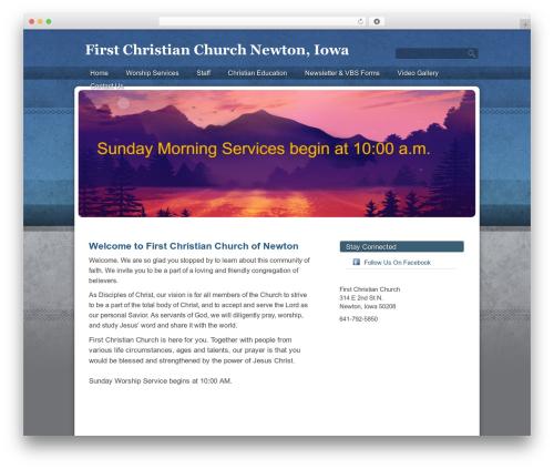 Sharefaith Church Website Template WordPress theme - fccnewton.org