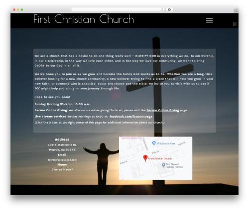 Sharefaith Church Website Template WP theme - fccmonroe.org
