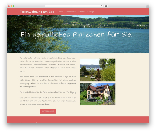 Free WordPress TablePress plugin - ferienwohnung-am-see.com