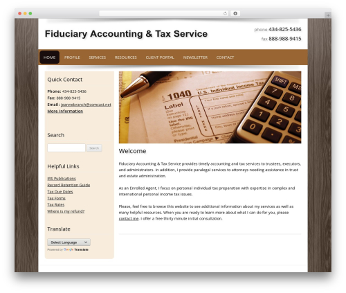Theme WordPress Customized - fiduciarytaxacct.com