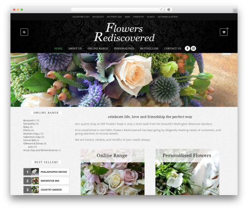 Theme WordPress Fame - flowersrediscovered.co.nz
